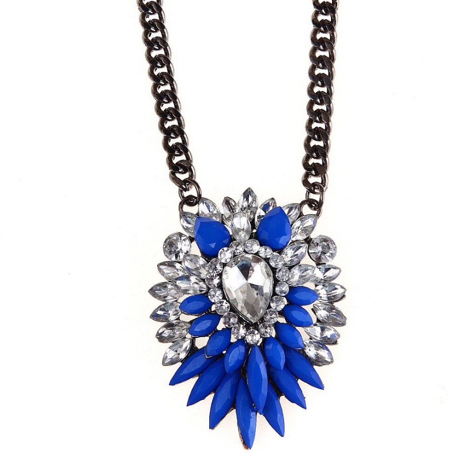 necklace jewelry product style shourouk blue