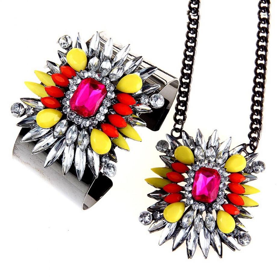 Sunrise Shourouk style jewelry