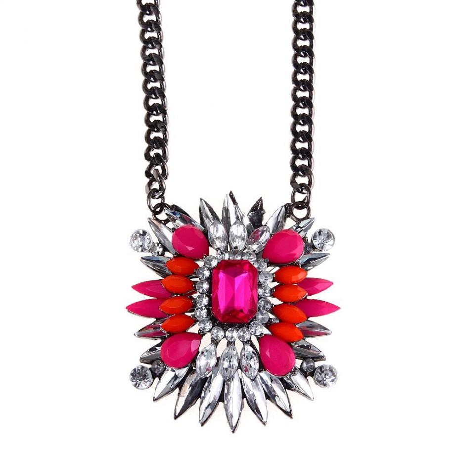 Red Shourouk style jewelry